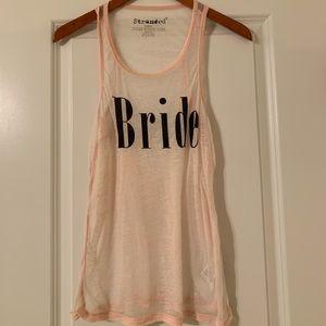 """""""BRIDE"""" tank"""